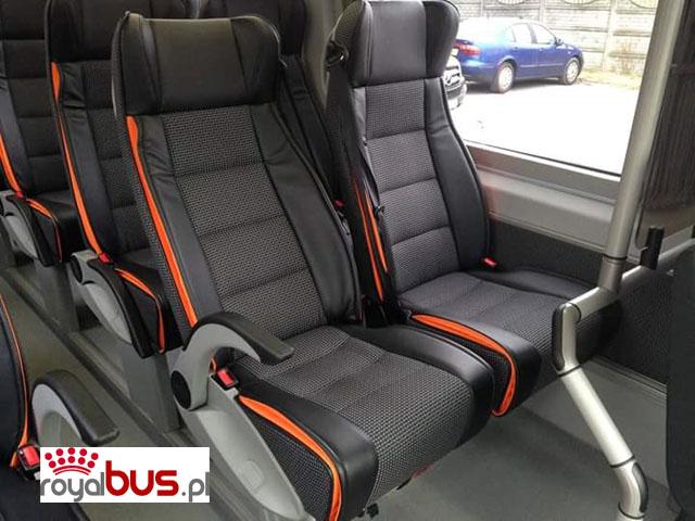 Komfortowe fotele klasy VIP — bus Mercedes Sprinter 519